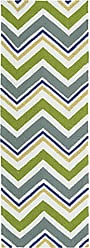 Kaleen Rugs Escape Indoor/Outdoor Rug, Green, 2 x 6 Runner