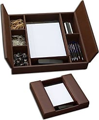 Dacasso Classic Chocolate Brown Leather Enhanced Conference Room Organizer