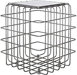 Varaluz Casa 430A01RBWM Grid Collection End Table, Rustic Bronze with White Marble