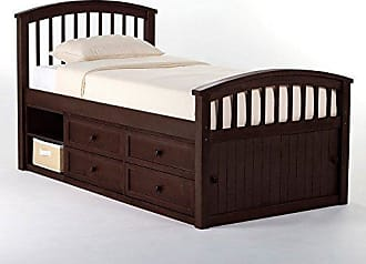 Hillsdale Furniture 5070N Hillsdale Kids and Teen School House Storage Twin Captain Bed Chocolate