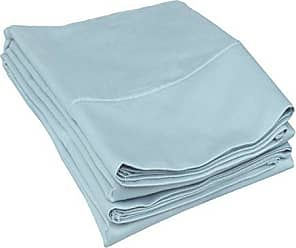 Superior C500SDPC SLLB, Cotton 500 Thread count Envelope closure pillowcases, Standard, Light Blue, 2 Piece
