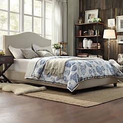Weston Home Vegreville Upholstered Platform Bed, Size: Queen - E608BQ-1BL(3A)[BED]PL