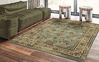 Ottomanson Royal Collection Distressed Oriental Floral Design Area Rug, 53 X 70, Seafoam