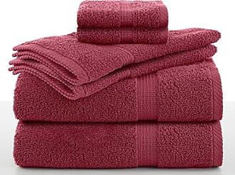 Westpoint Home Utica 6 Piece Essentials Towel Set, Soft Red