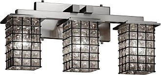 Justice Design Wire Glass Montana WGL-8673-15-GRCB Bathroom Vanity Light - WGL-8673-15-GRCB-CROM