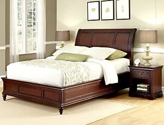 Home Styles Lafayette Cherry King Sleigh Bed & Night Stand by Home Styles