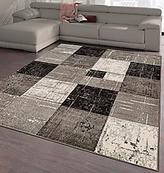 Ottomanson CIT3123-5X7 City Collection Modern Area Rug Contemporary Sculpted Effect Faded Geometric Rug-5x7 (53 X 73), 53 X 73, Grey-Black Checkered