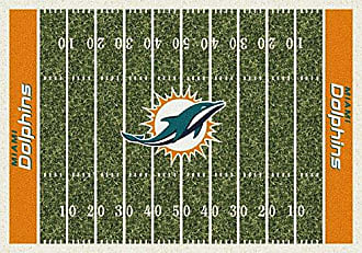 Milliken Carpet Miami Dolphins NFL Team Home Field Area Rug by Milliken, 310 x 54, Multicolored