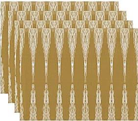 E by Design E by design Peace 1 Geometric Print Placemat, 18 x 14, Gold