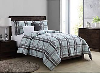 VCNY Home VCNY Home Maxwell Plaid 5 Piece Bedding Comforter Set, Full/Queen, Grey