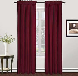 United Curtain Metro Woven Window Curtain Panel, 54 by 63-Inch, Burgundy