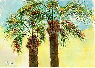 Betsy Drake DM385 Coastal Palms Door Mat, 18 x 26