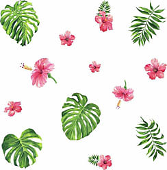 RoomMates Tropical Hibiscus Flower Peel And Stick Wall Decals - RMK3904SCS