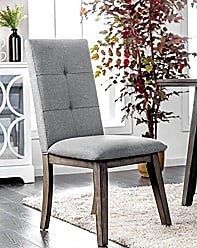 FURNITURE OF AMERICA Williams Home Furnishing CM3354GY-SC-2PK Abelone Side Chair, Light Gray