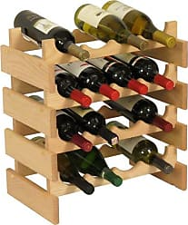 Wooden Mallet 16 Bottle Dakota Wine Rack, Unfinished