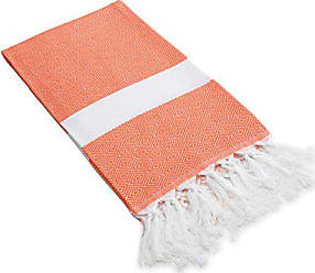 Linum Home Textiles PDIA70 Diamond Pestemal, Orange