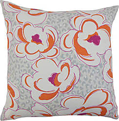 The Pillow Collection Ohara Floral Bedding Sham Tangerine Euro/26 x 26