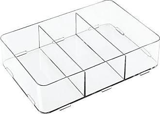 iDesign Clarity Schubladen Organizer durchsichtig extragro/ße Aufbewahrungsbox mit 5 F/ächern aus Kunststoff