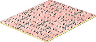 Carolines Treasures Gemoetric Circles on Pink Watercolor Floor Mat Multicolor 19hx27w