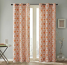 INTELLIGENT DESIGN Maci Window Curtain Orange 63 Panel
