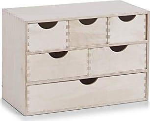 Zeller 13190 Cassettiera con 5 cassetti in legno di betulla 13 x 12 x 58 cm