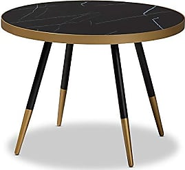 Wholesale Interiors Baxton Studio 153-9082-AMZ Coffee Tables, One Size,Mable Brown/Black/Gold