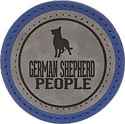 Pavilion Gift Company 67636 2.5 Inch Round Dog Refrigerator Magnet German Shepherd People Blue