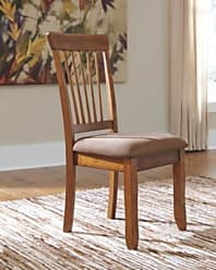 Ashley Furniture Berringer Dining Room Chair (Set of 2), Rustic Brown