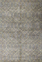 Bashian Greenwich HG300 Collection Hand Tufted Wool & Viscose Area Rug, 7.9 x 9.9, Grey