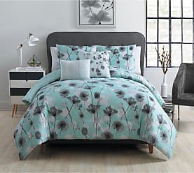 VCNY Poppy 5 Piece Reversible Comforter Set by VCNY, Size: Full/Queen - P0P-5CS-FUQU-IN-AQ