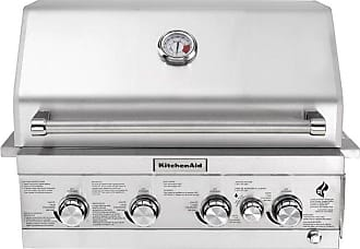 KitchenAid 4-Burner Built-in Propane Gas Island Stainless Steel Grill Head with Rotisserie Burner - 740-0780