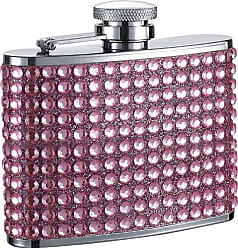 Visol Products VisolKylie Bling Stainless Steel Hip Flask, 4-Ounce, Pink