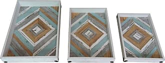 Art Maison Canada Diamond Wood Decorative Trays - Set of 3 - HAYIMP7124