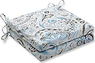 Pillow Perfect Outdoor/Indoor Vermilya Tidepool Squared Corners Seat Cushion 20x20x3 (Set of 2)