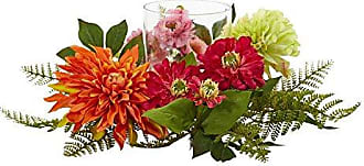 Nearly Natural Mixed Floral & Dahlia Candelabrum, 17