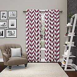 Ellery Homestyles Pairs To Go 15613056X084FUS Dewitt 56-Inch by 84-Inch Window Curtain Pair, Fuschia