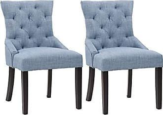 CorLiving LAD-471-C Antonio Dining Chair, Blue Grey, Blue Grey