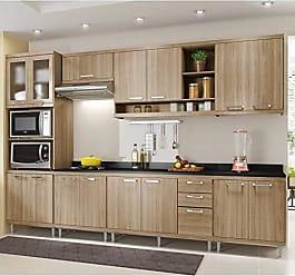 Multimóveis Cozinha Completa com Balcão com Tampo 8 Peças 15 Portas Sicília Multimóveis Argila