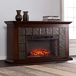 Copper Grove Honor 60-inch Warm Brown Walnut Electric Fireplace (OS2209FE)