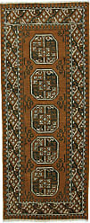Nain Trading Afghan Akhche Baghlan Rug 68x29 Runner Brown (Afghanistan, Hand-Knotted, Wool)