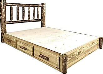 Montana Woodworks MWGCSBPQ Glacier Country Collection Platform Bed with Storage, Queen