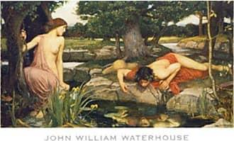 Buyartforless Buyartforless Echo and Narcissus, 1903 by John William Godward 24x31 Art Print Poster