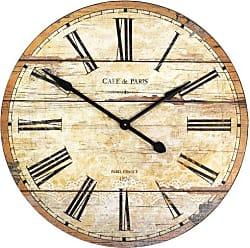 Zentique Zentique Wooden Clock, Brown