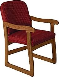 Wooden Mallet DW7-1 Prairie Guest Chair, Medium Oak/Watercolor Green