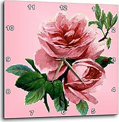 3D Rose dpp_23422_1 Classic Pink Rose Wall Clock, 10 by 10-Inch
