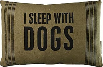 Primitives By Kathy With Dogs Dark Pillow, 10-Inch by 15-Inch (22561)