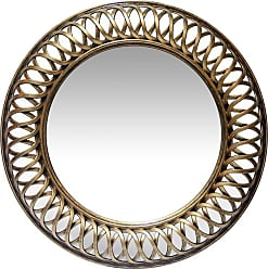 Infinity Instruments Lattice Round Wall Mirror - 22.75W x 22.75H in. Silver - 15455AS