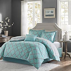 Ultra Soft Microfiber Bedroom Comforters Geometric 9 Pieces Bedding Sets Blue Madison Park Essentials Rincon Queen Size Bed Comforter Set Bed in A Bag