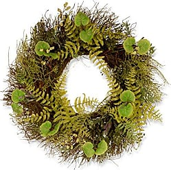 National Tree Company National Tree 24 Inch Garden Accents Fern and Lavender Wreath (GAFL30-24WGL)