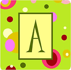 Set of 4 Initial Letter S Multicolor Carolines Treasures CJ1030-SFC Monogram-Camo Green Foam Coasters 3.5 H x 3.5 W
